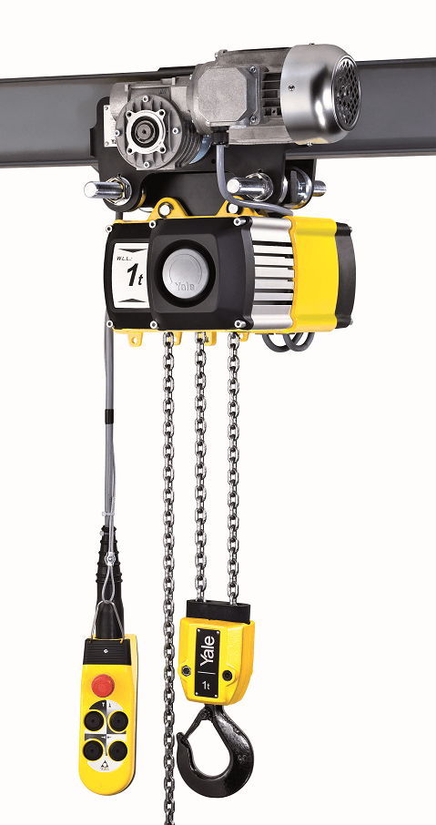 Yale cpv hoist with electric trolley