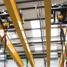 2x ZX double girder crane hoists