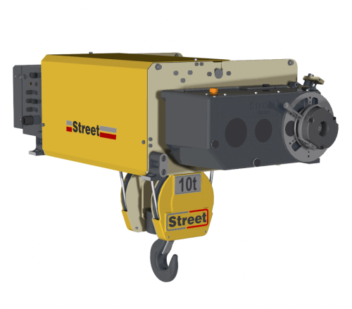 zx foot mounted wire rope hoist