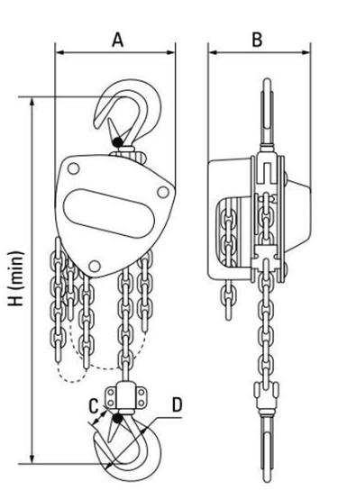 GT Viper chain block dimensions