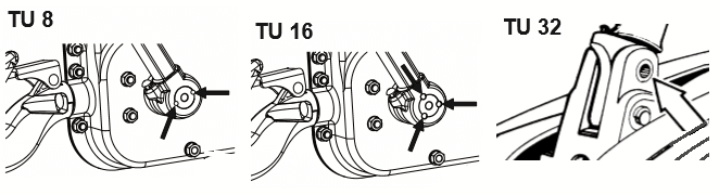 Tirfor winch TU range pin locations