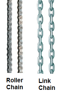 Yale D85 pul-lift chain types