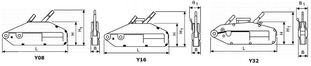 Yaletrac cable puller dimensions