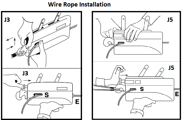 tirfor jockey rope installation