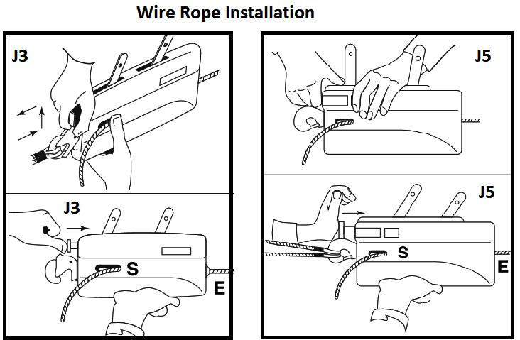 tirfor jockey rope installation