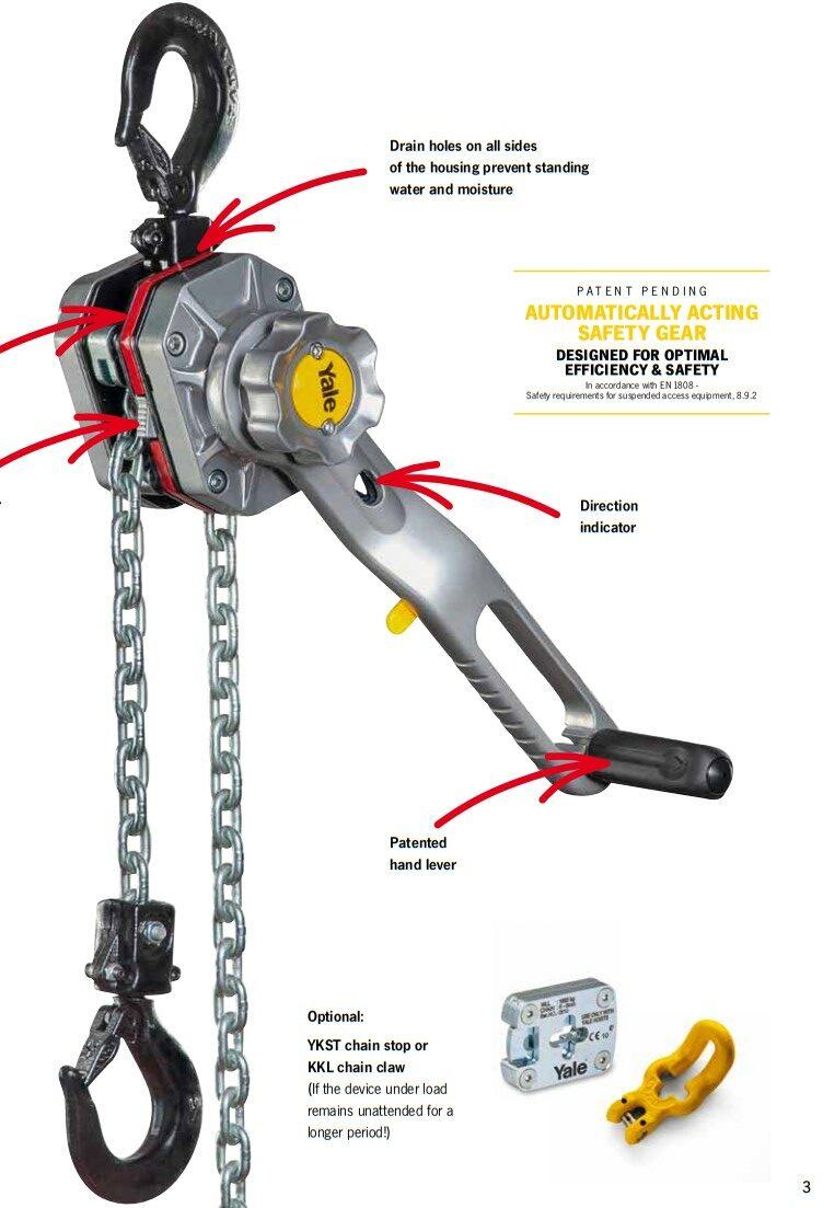 Yale Utility lever hoist UT