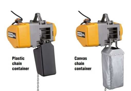 Kito electric hoist chain containers